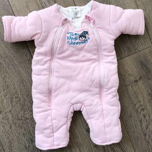 Baby Merlin's Magic Sleepsuit - Pink